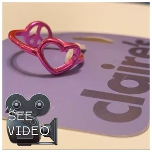 Claire's reversible peace & love ring